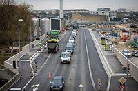 Neue Bushaltestellen Rocade de Bonnevoie - Foto: Pierre Matgé/Luxemburger Wort