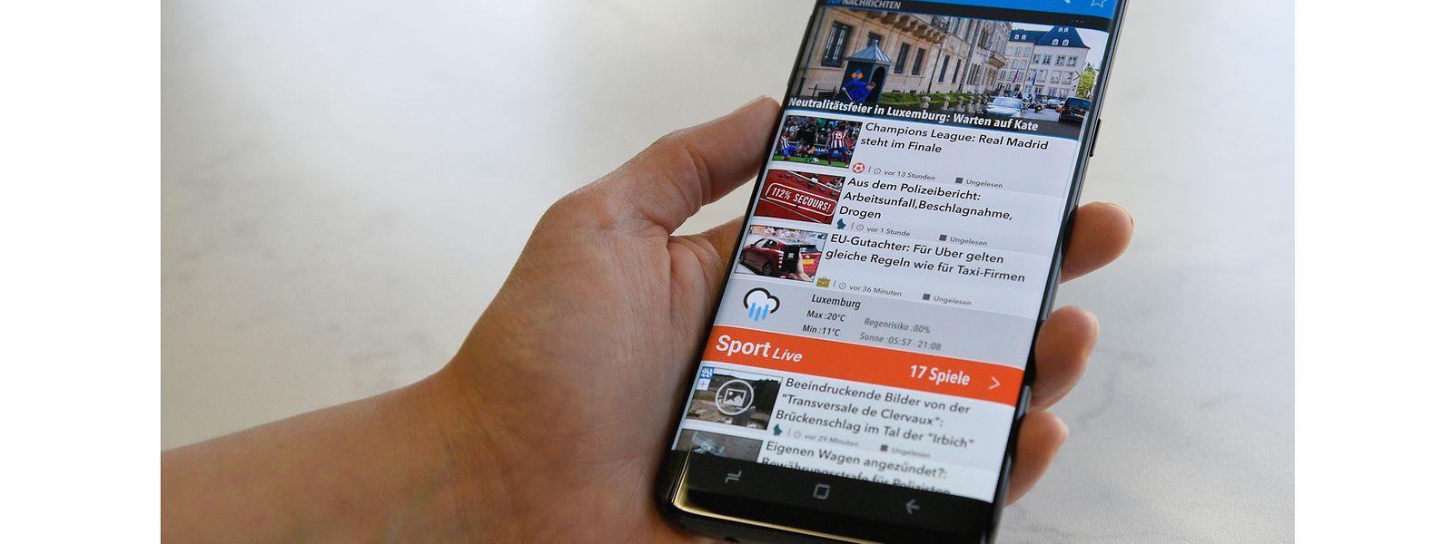 Das S8+ bietet viel Nutzeroberfläche, ist aber schwer mit einer Hand zu bedienen.