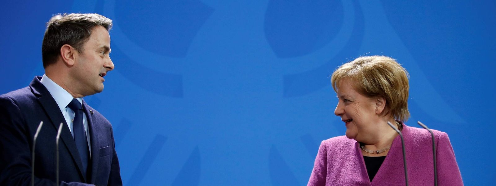 Auf einer Wellenlänge – fast überall: Premier Bettel und Kanzlerin Merkel.