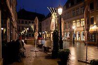 Lok , Sylvester in Coronazeiten , 2020 , Leere Strrassen , rue de la Reine Foto:Guy Jallay/ Luxemburger Wort