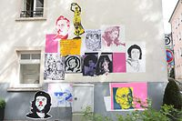 Mural dedicado a portugueses e luxemburgueses, no Grund