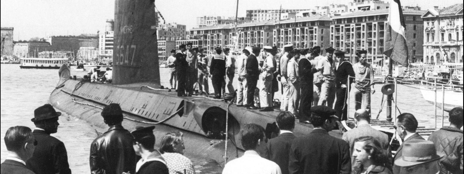 Die Minerve während der 1960er Jahre  im Hafen von Marseille.