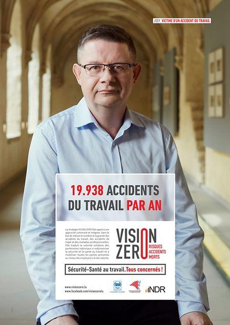 """Affiche de prévention de la campagne """"vision zero"""""""