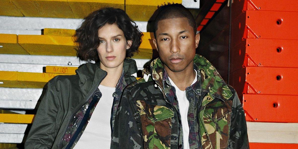 Auch Musiker Pharrell Williams weiß, welchen Trend man nichtverpassen sollte – in diesem Fall: Camouflage.