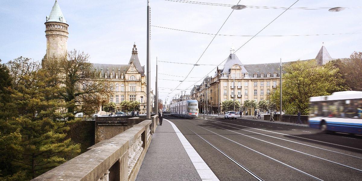 La place de Metz se situe sur le parcours de la première ligne de tram.