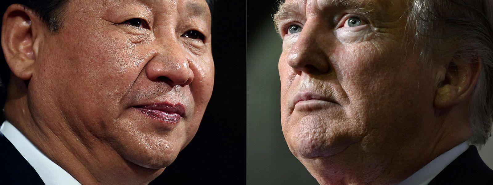 Das Verhältnis zwischen Xi Jinping (L) und US-Präsident Donald Trump ist auf einem Tiefpunkt angelangt.