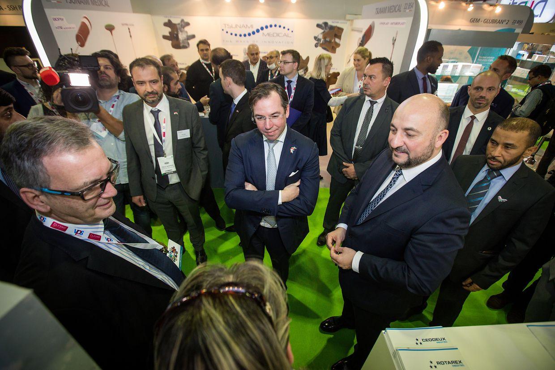Erbgroßherzog Guillaume und Wirtschaftsminister Etienne Schneider haben die Fachmesse am Dienstag besucht.