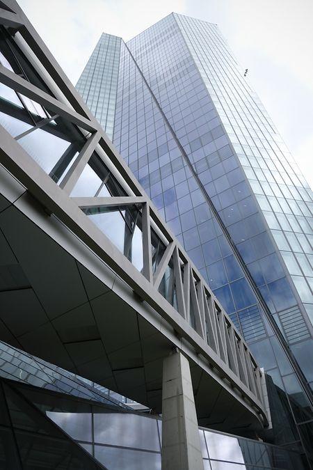 Le siège de la Banque centrale européenne à Francfort. Le président Mario Draghi y a son bureau au 41ème étage.