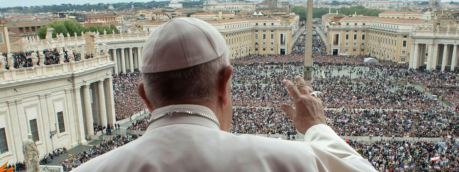 Papst Franziskus am 21. April 2019. Dieses Jahr wird der Papst nur online zu sehen sein.