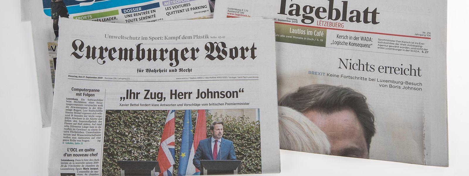 Le Luxemburger Wort atteint 70% de la population totale et 84% des résidents nationaux.