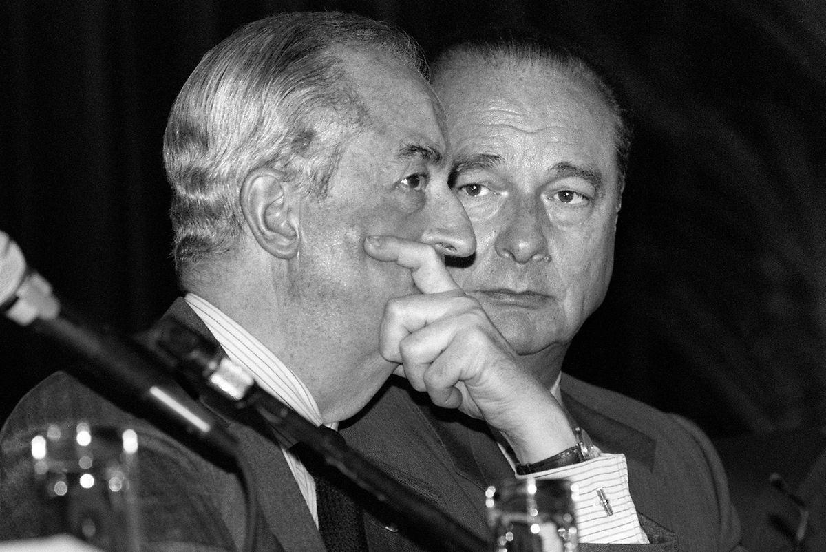 Le frère ennemi: Edouard Balladur, Premier ministre de Chirac, ici en 1984.