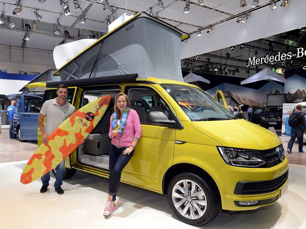 Der Bulli ist zurück: Volkswagen zeigt auf dem Caravan-Salon die neue Version des Campingbus California.