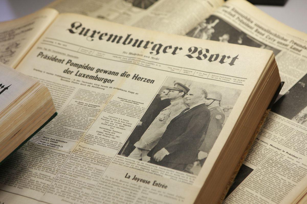 La visite de Pompidou fit la Une du Luxemburger Wort.