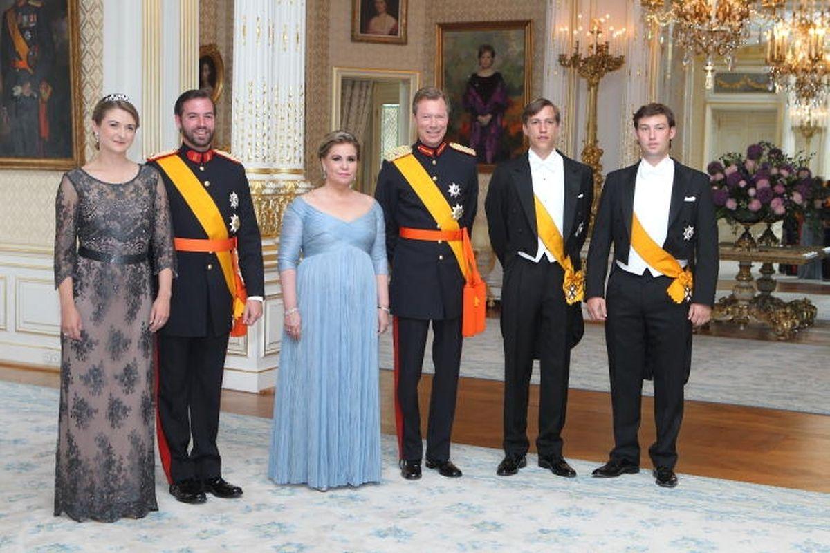 La famille grand-ducale reçoit au palais au soir du 23 juin.