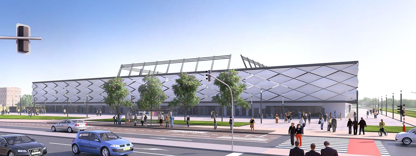 Blick auf das neue nationale Stadion, das Ende 2019 eröffnet werden soll.