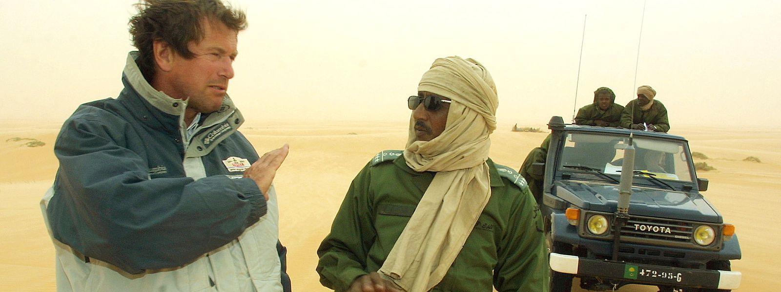 Auriol im Jahr 2002 in Mauretanien.
