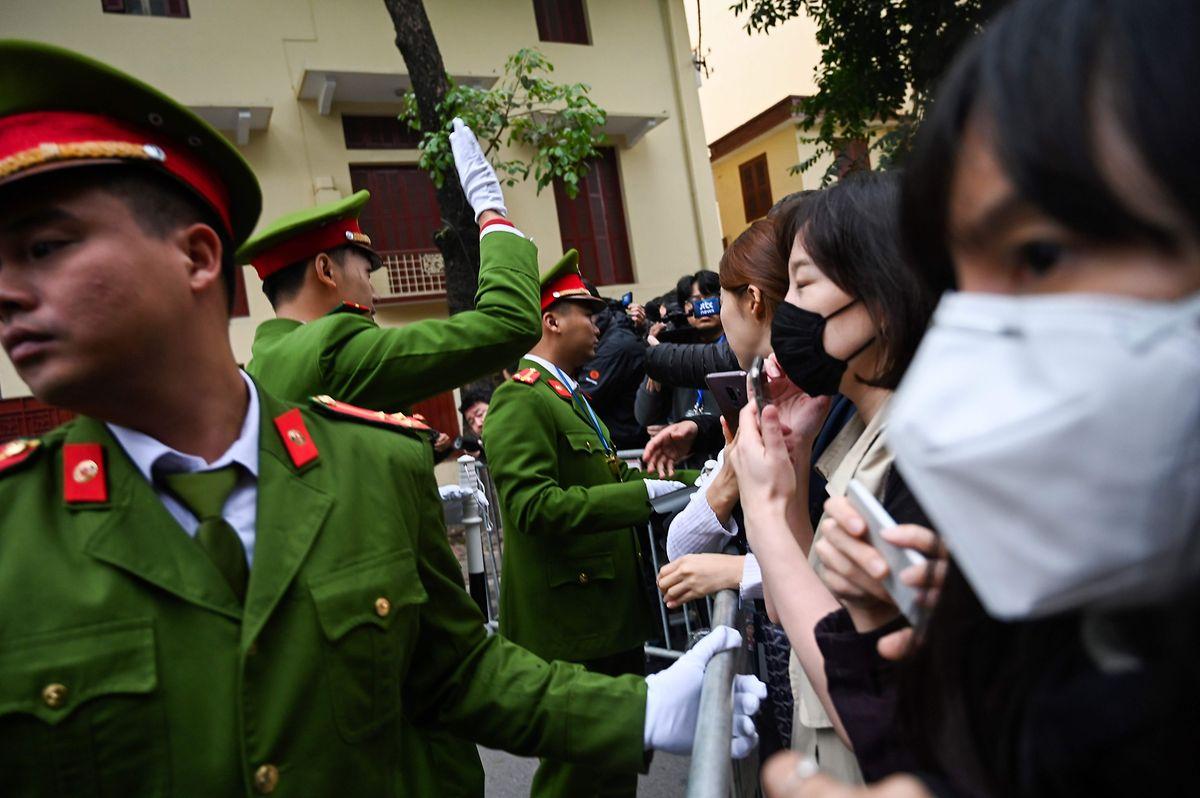 Die Vietnamesische Polizei hatte tausende Polizeibeamte abbestellt.