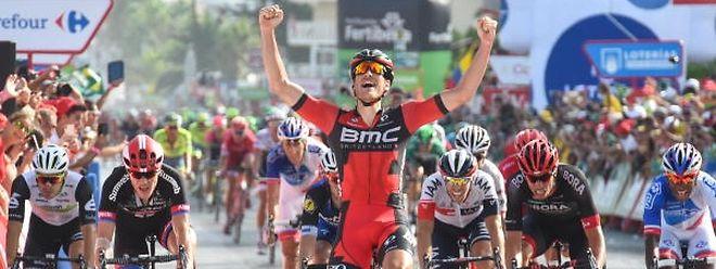 Jempy Drucker (BMC) a remporté la première étape du SkodaTour de Luxembourg, ce jeudi à Bascharage