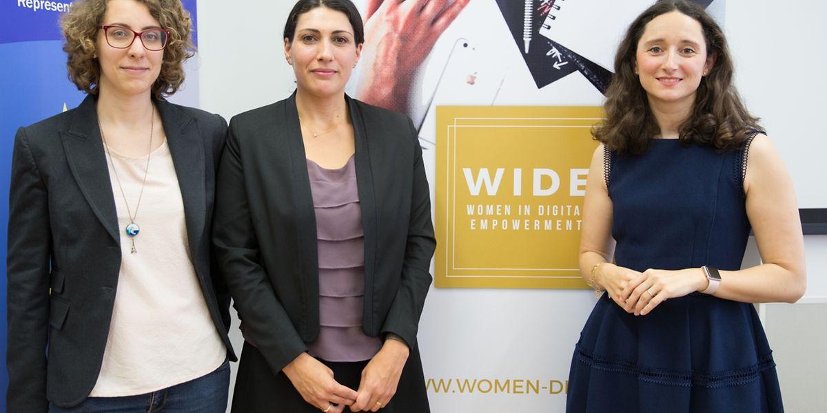 Annabelle Buffart, Marina Andrieu und Marie-Adélaïde Gervis von WIDE.