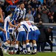 FC Porto's players celebrate after scoring a goal against Rio Ave during their Portuguese First League soccer match held at Dragao stadium in Porto, Portugal, 21 January 2017. JOSE COELHO/LUSA