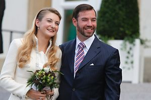 October 19, 2012 - Guillaume and Stéphanie celebrate their civil marriage ceremony