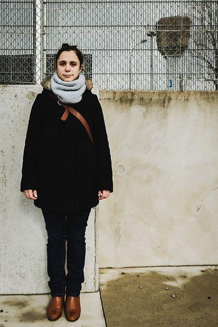 Mylène Carrière, avant d'entrer à la prison de Schrassig pour une visite.