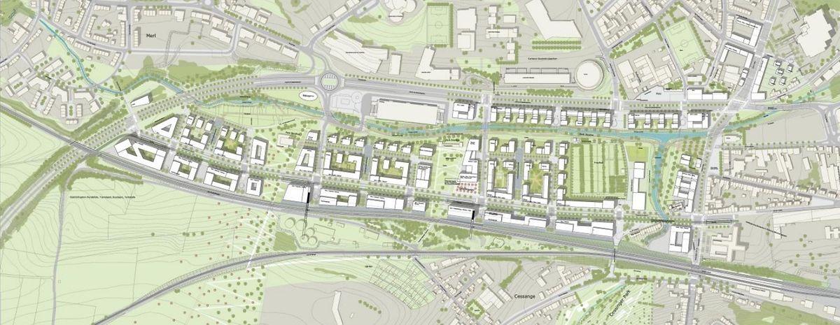 Le projet «Porte de Hollerich» doit mettre en place un écoquartier situé en face du campus du Geesseknäppchen.