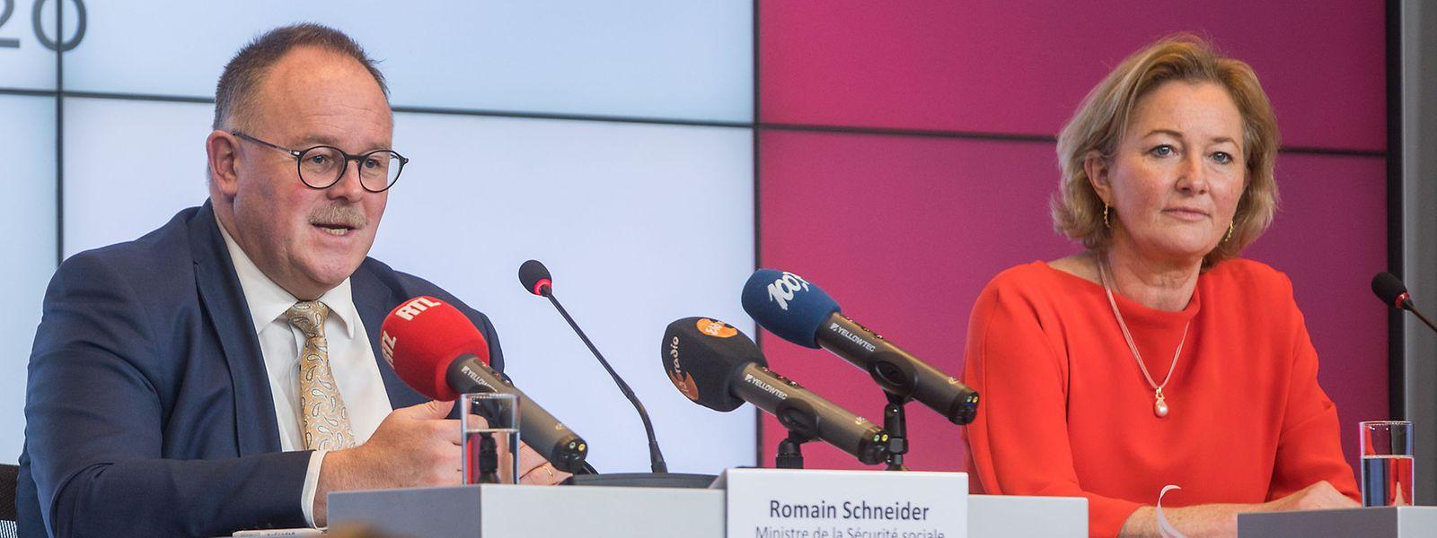 Camarades de parti (LSAP), Romain Schneider et Paulette Lenert partagent déjà de nombreux dossiers.