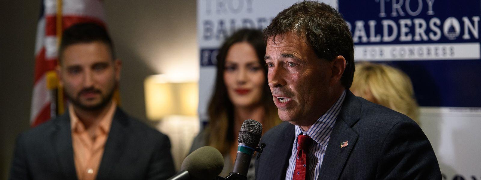 Euphorie sieht anders aus: Troy Balderson am Wahlabend.