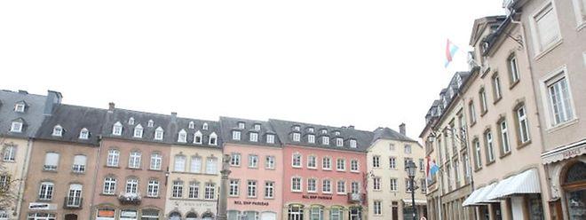 Die Gebäude auf dem Echternacher Marktplatz stehen bereits unter Denkmalschutz.
