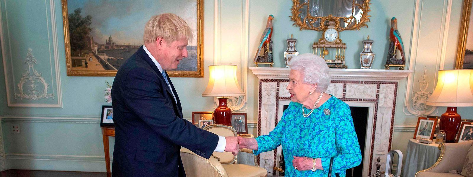 Die Queen empfing Johnson am Mittwochnachmittag.