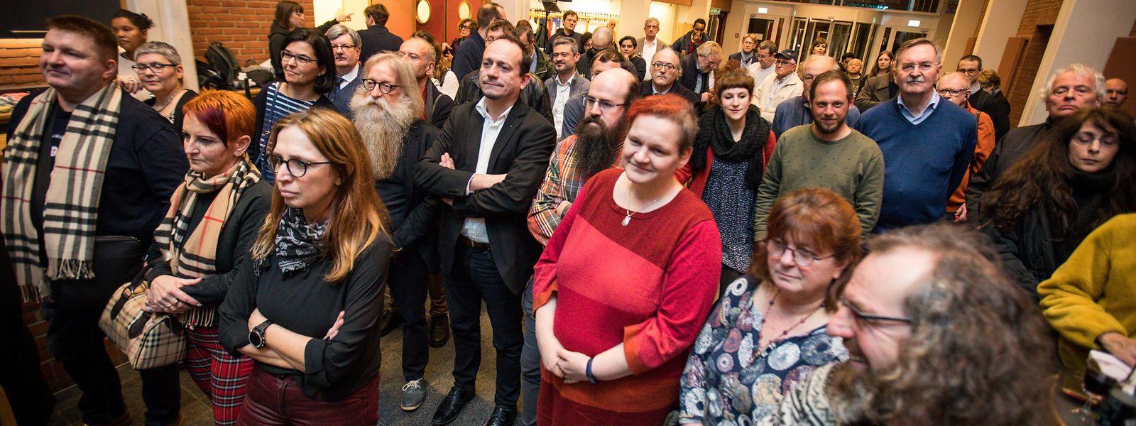 Déi Lénk hatten zum Neujahrsempfang ins Bonneweger Kulturzentrum eingeladen.