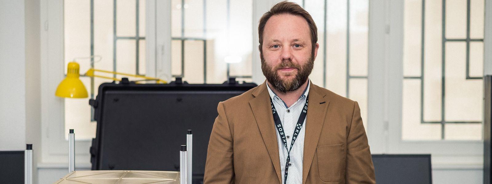 Andy Bowyer guide la start-up Kleos Space depuis son décollage en 2017.