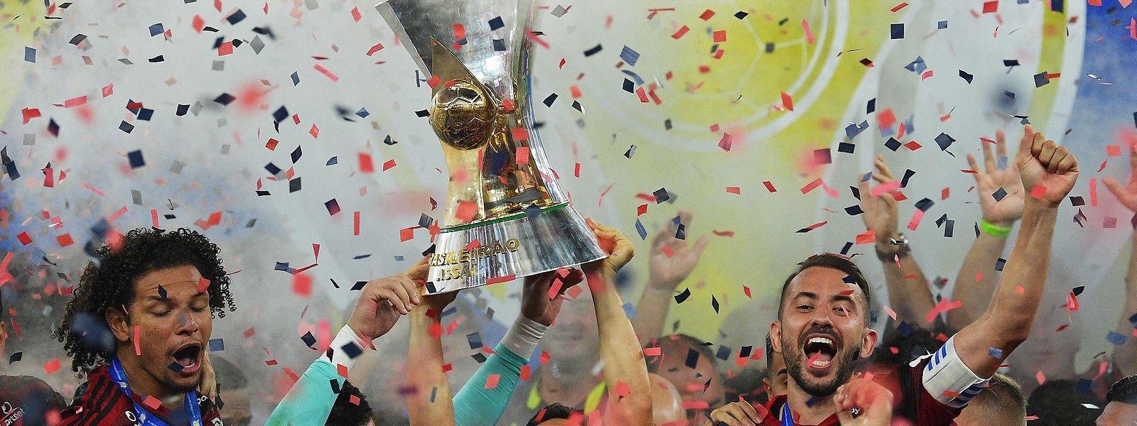 A festa do Flamengo no Maracanã.