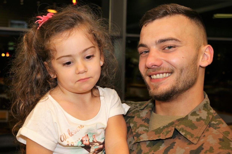 Des larmes de joie ont jailli samedi soir à l'accueil des 23 soldats de retour de mission au Kosovo.