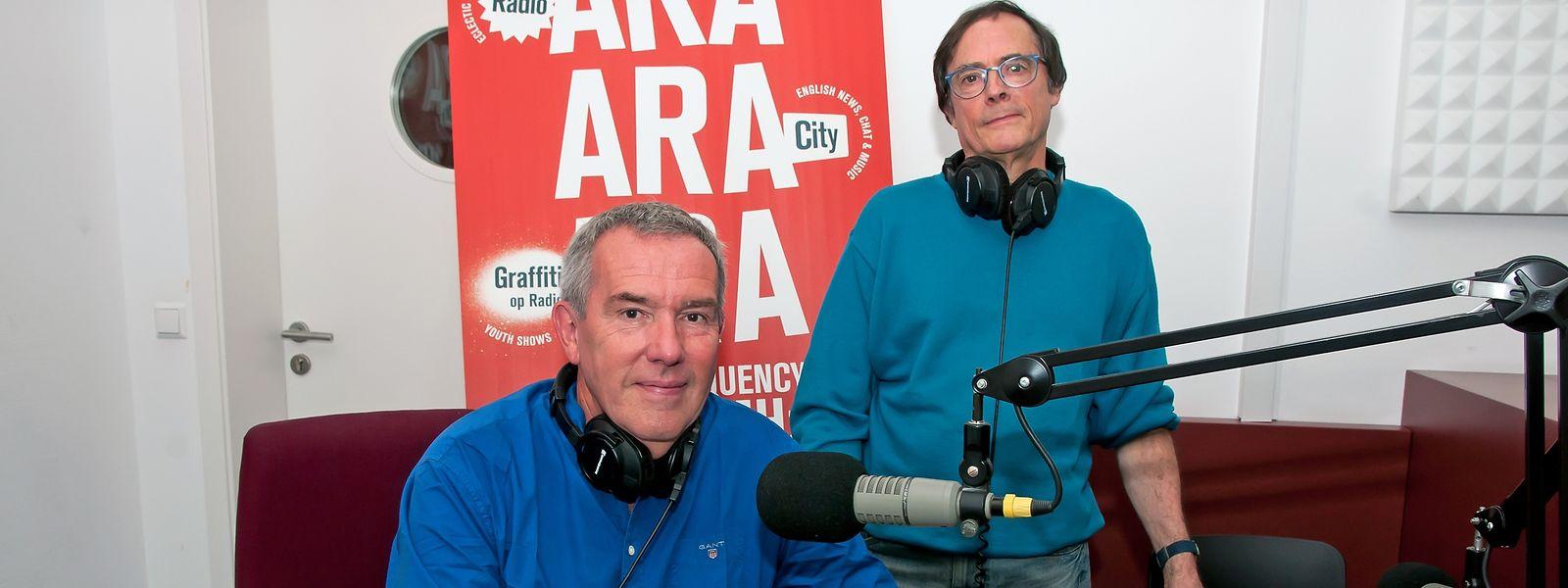 Seit 25 Jahren sind Robert Garcia und Germain Bintz schon ein Team. Seit kurzem sendet das Radio aus den Rotunden in Bonneweg.