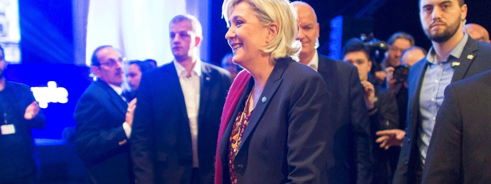 Marine Le Pen startete am Samstag in Lyon in den Präsidenschaftswahlkampf.