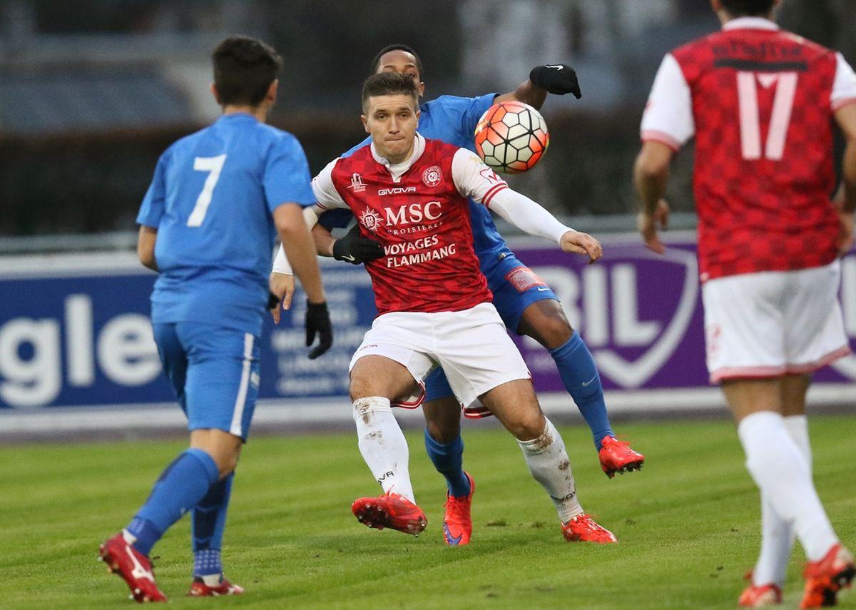 Edis Osmanovic a ouvert le score pour Wiltz avant de manquer le 0-2 sur un penalty à un quart d'heure de la fin du match.