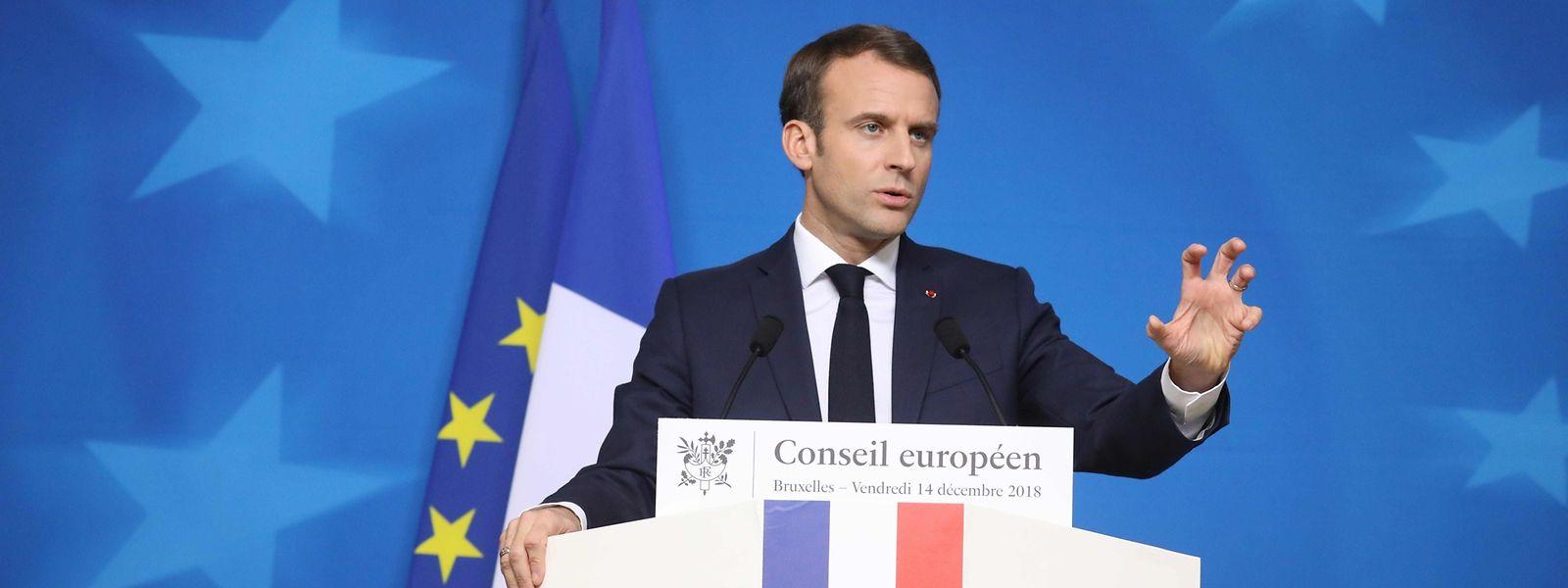 Emmanuel Macron kommt seinem Ziel eine eigenen Euroraum-Budget nur langsam näher.