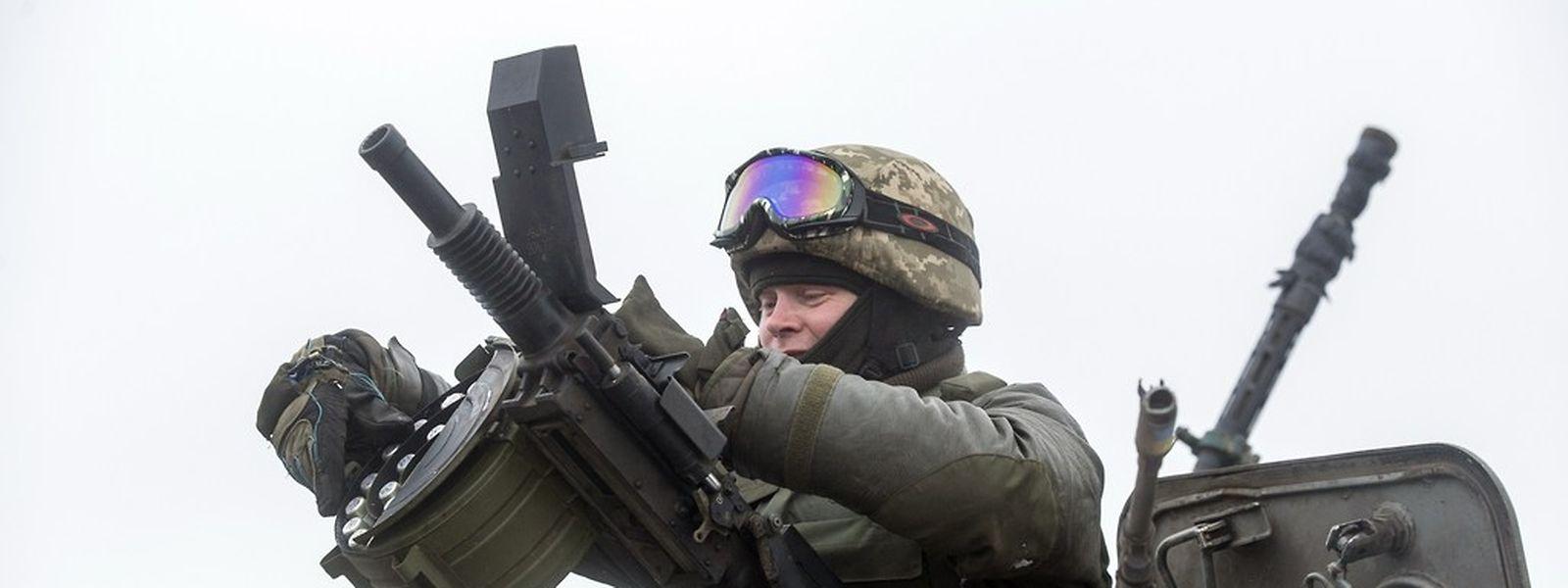 Ukrainische Soldaten sind im Osten des Landes im Einsatz.