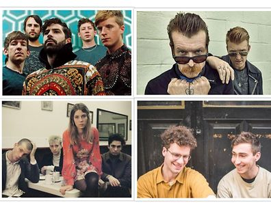 Coming to Luxembourg in August: Foals (top left), Eagles of Death Metal (top right), Wolf Alice (bottom left), Whitney (bottom right)