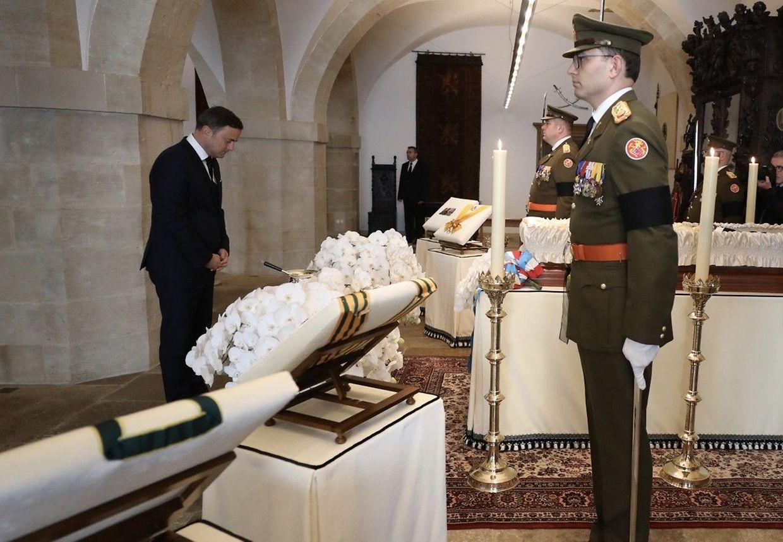 Primeiro-ministro Xavier Bettel na homenagem ao Grão-Duque Jean.