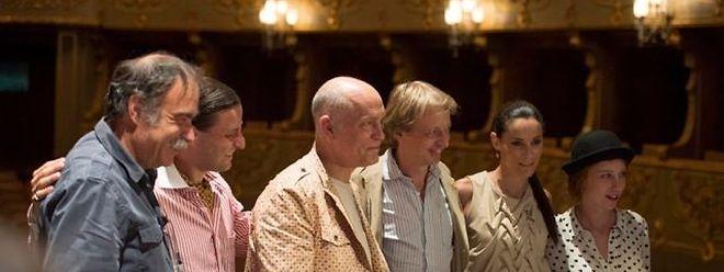 """Schauspieler, Produzenten und Regisseur stellten in Lissabon den Film ''The Giacomo Variations"""" vor."""