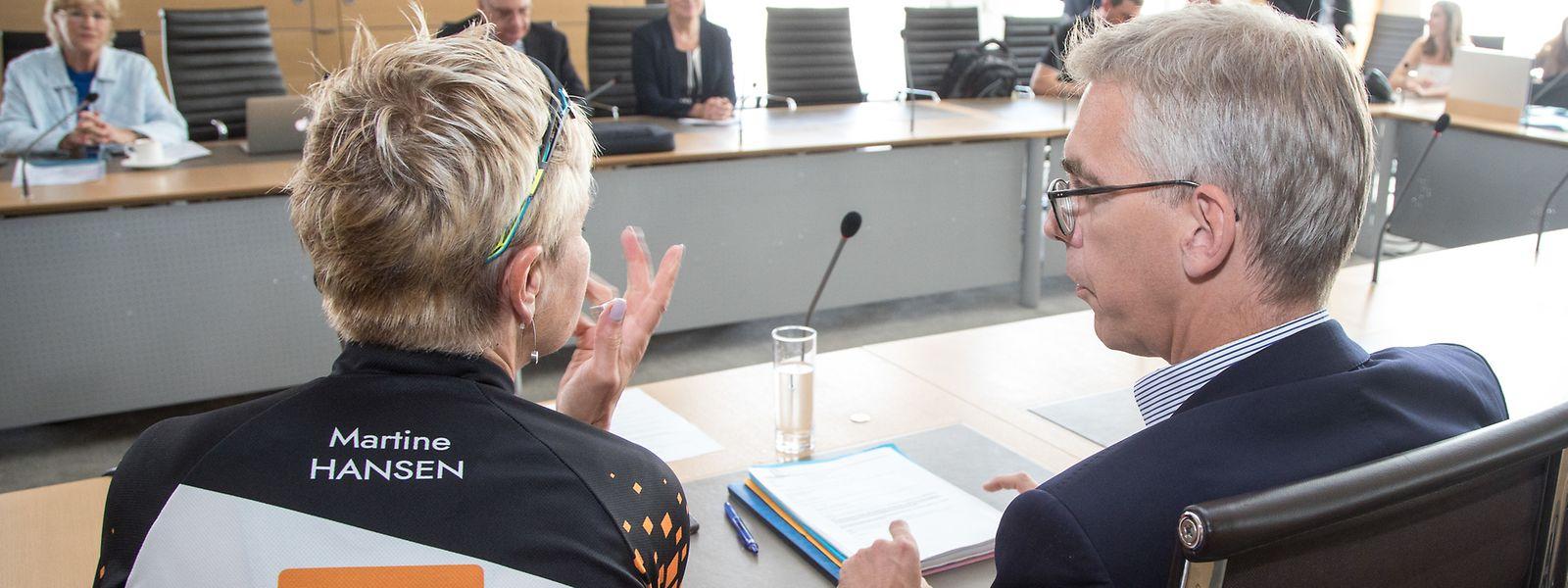 Léon Gloden und Martine Hansen von der CSV verteidigten am Mittwoch im Institutionenausschuss noch einmal die Position ihrer Partei zur Verfassungsreform.