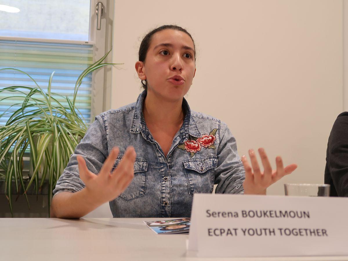 Serena Boukelmoun d'ECPAT Youth Together: «Ce type de harcèlement est de plus en plus répandu dans les écoles et clubs sportifs. Mais nous pouvons tous agir».