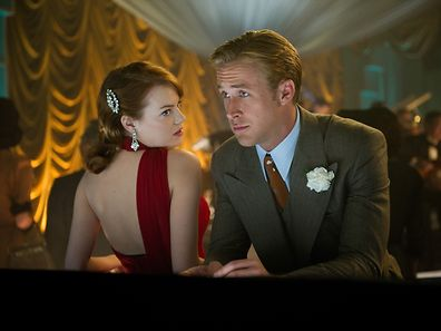 "EMMA STONE as Grace Faraday and RYAN GOSLING as Sgt. Jerry Wooters in Warner Bros. Pictures' and Village Roadshow Pictures' drama ""GANGSTER SQUAD,"" a Warner Bros. Pictures release."