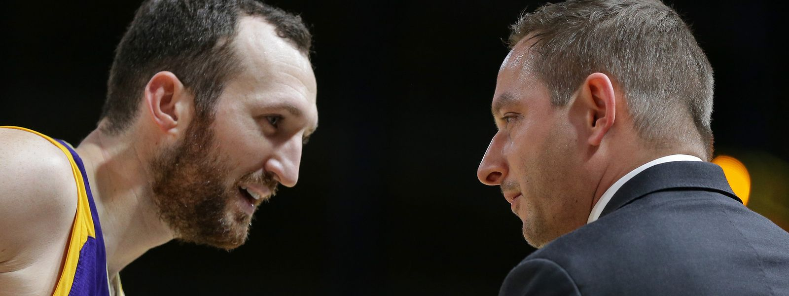 Sparta-Trainer Kevin Magdowksi (r.) und Pitt Koster haben ein gutes Verhältnis.