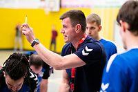 Nikola Malesevic (Trainer Duedelingen) / Handball, Nationale 1 Maenner, Berchem - Duedelingen / 07.03.2020 / Crauthem / Foto: Christian Kemp