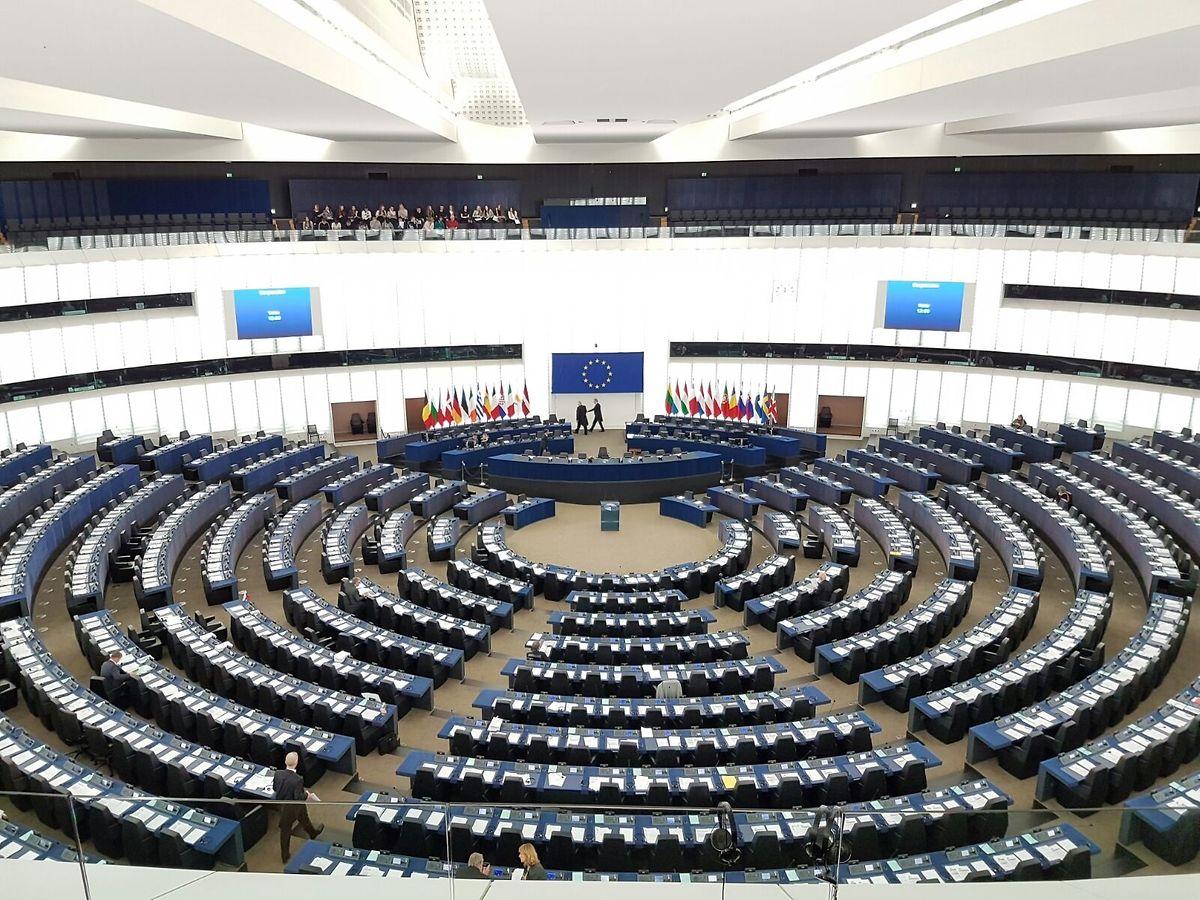 Der Plenarsaal in Straßburg vor Beginn einer Tagungswoche.