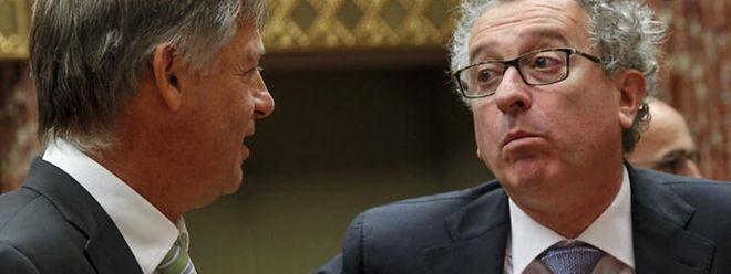 """Von der großen strukturellen Reform der Budgetmethode, die Finanzminister Pierre Gramegna (rechts) einst als """"kopernikanische Wende"""" ankündigte, fehlt bisher jede Spur."""